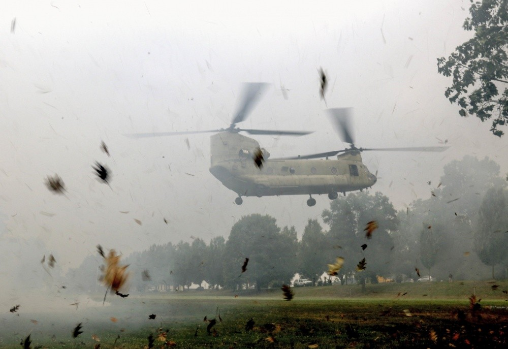 CH-47 Chinook Helicopter Crashes in Afghanistan Killing Two U.S. Servicemen