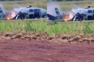 Nigeria Air Force Helicopter Crash Landed Under Unknown Circumstances