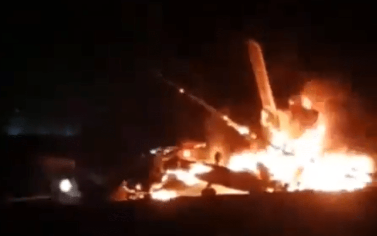 Israeli Defence Force Sikorsky CH-53 Yas'ur Helicopter Crashlands After Catching Fire Midair