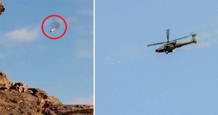 Yemen's Houthi Claims To Shoot Down Saudi Army AH-64A Apache Helicopter