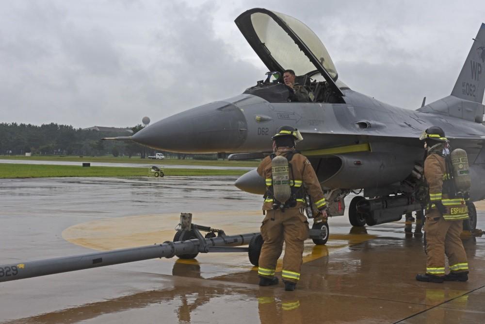 U.S. Air Force F-16 Fighter Jet Crashed During Landing At Kunsan Air Base