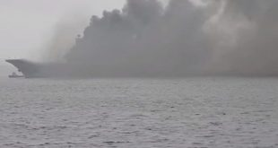 "Huge Fire Breaks Out On Russian ""Admiral Kuznetsov"" Aircraft Carrier"