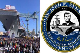 U.S. Navy Christens Newest Nuclear-Powered Aircraft Carrier
