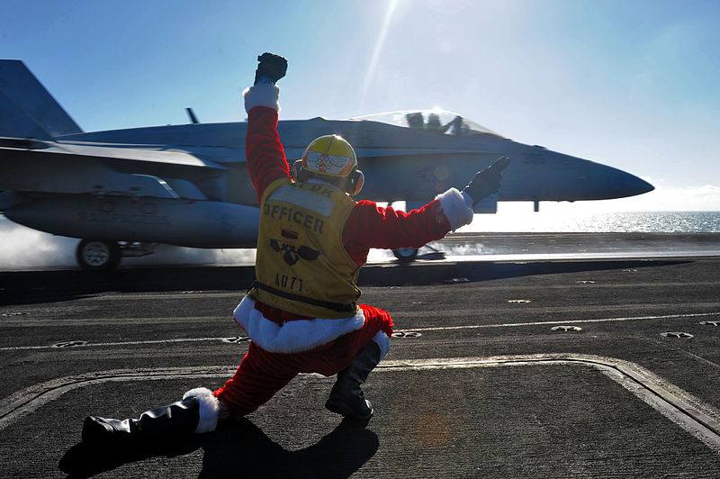 Navy Recalls Adm. Santa Claus To Active Duty On Aircraft Carrier