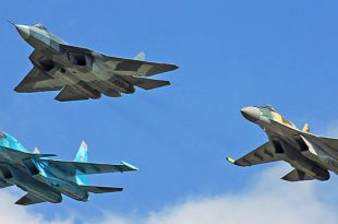 Russian Su-57 Tested Controlling Su-35 Fighter Jet Swarm In Real Combat Conditions
