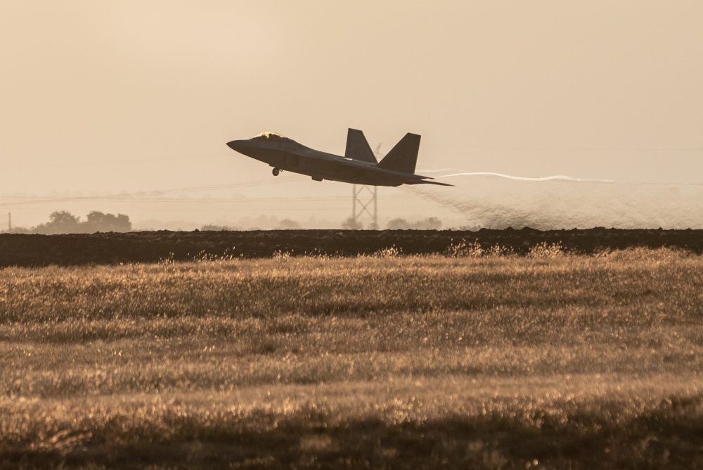 U.S. Air Force F-22 Raptor That Crash Landed 7 Years Ago Takes To The Sky Again