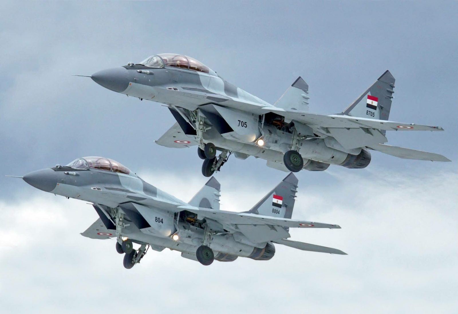 Egyptian Air Force MiG-29M Fighter Jet Crashed After A Technical Malfunction