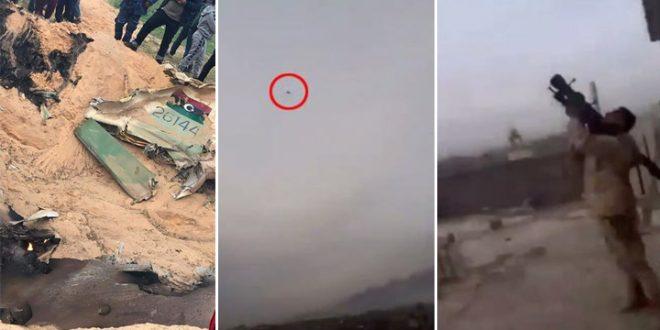 Libya's GNA Forces Shot Down LNA MiG-23ML Fighter Jet By MANPADS Near Tripoli