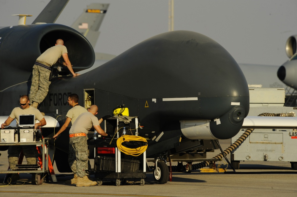 U.S. Navy RQ-4A Drone Suffers Major Damage During Takeoff In Middle East