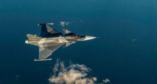 Saab Unveils Gripen E Fighter Jet In New Color Scheme