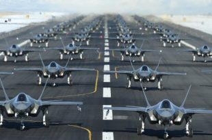 "52 F-35 Stealth Fighters Take Part In ""Elephant Walk"" Drill To Take Out Iran's Missile Defence"