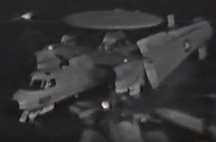 Video Shows E-2C Hawkeye Crashing Into F-14 Tomcat On USS Saratoga Oily Flight Deck
