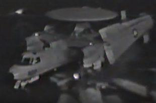 Video Shows E-2C Hawkeye Crashing Into F-14 Tomcat On USS Saratoga Oily Flight Deck