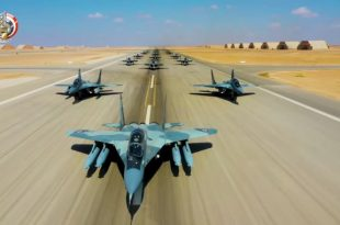 "16 Egyptian Air Force MiG-29 Jets Performed ""Elephant Walk"" During Qadir-2020 Exercise"