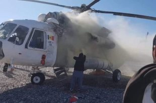 Afghan National Army Mil Mi-8MTV-1 Helicopter Hit By A Rocket In Helmand