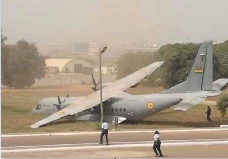 Ghana Armed Forces CASA C-295M Overruns Runway At Accra Air Force Base