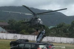 Watch: Indonesian Mil Mi-35 Helicopter Collided With A Car During Takeoff