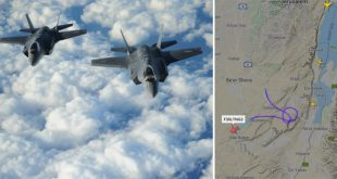 Israeli F-35 Accidentally Appeared On Flight Tracking Website Over Nuclear Facility