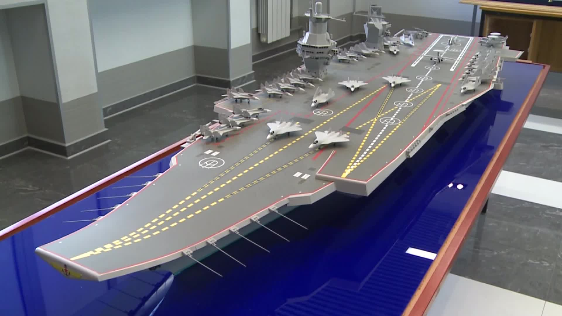 Russian Designers Display Future Aircraft Carrier Design With Navalised Su-57 & MiG-35 Fighter jets