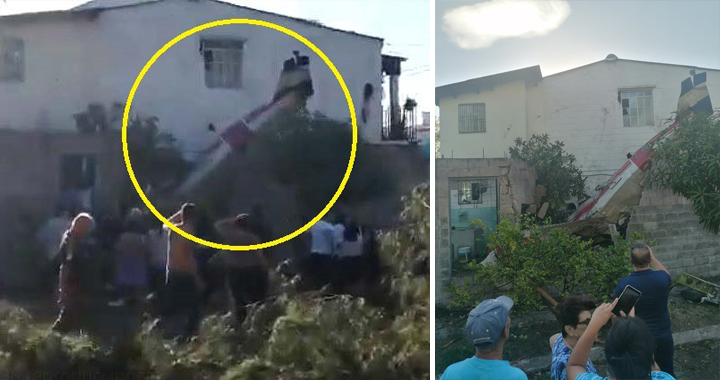 Salvadoran Air Force Training Aircraft Crashed Into A House: Pilot & Co-pilot Died