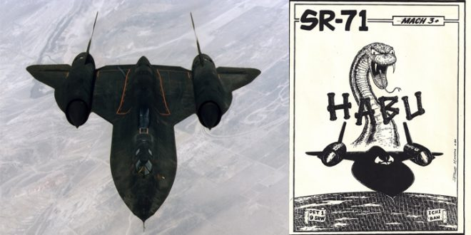 How Worlds Fastest Plane SR-71 Blackbird HABU Logo Was Conceived