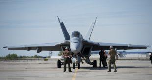 U.S. Navy Equipped F/A-18 Super Hornet With New Long-Range Sensor