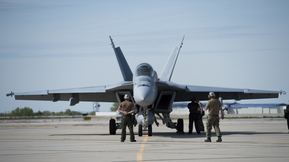 U.S. Navy Equipped F/A-18 Super Hornet With New Long-Range Sensor
