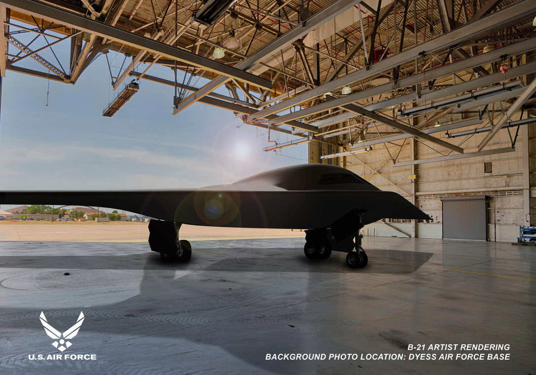 U.S. Air Force Releases Artist Rendering Of A B-21 Raider Stealth Bomber