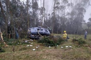 Colombian Air Force Bell UH-1H Huey II Helicopter Crashes, Killing 3
