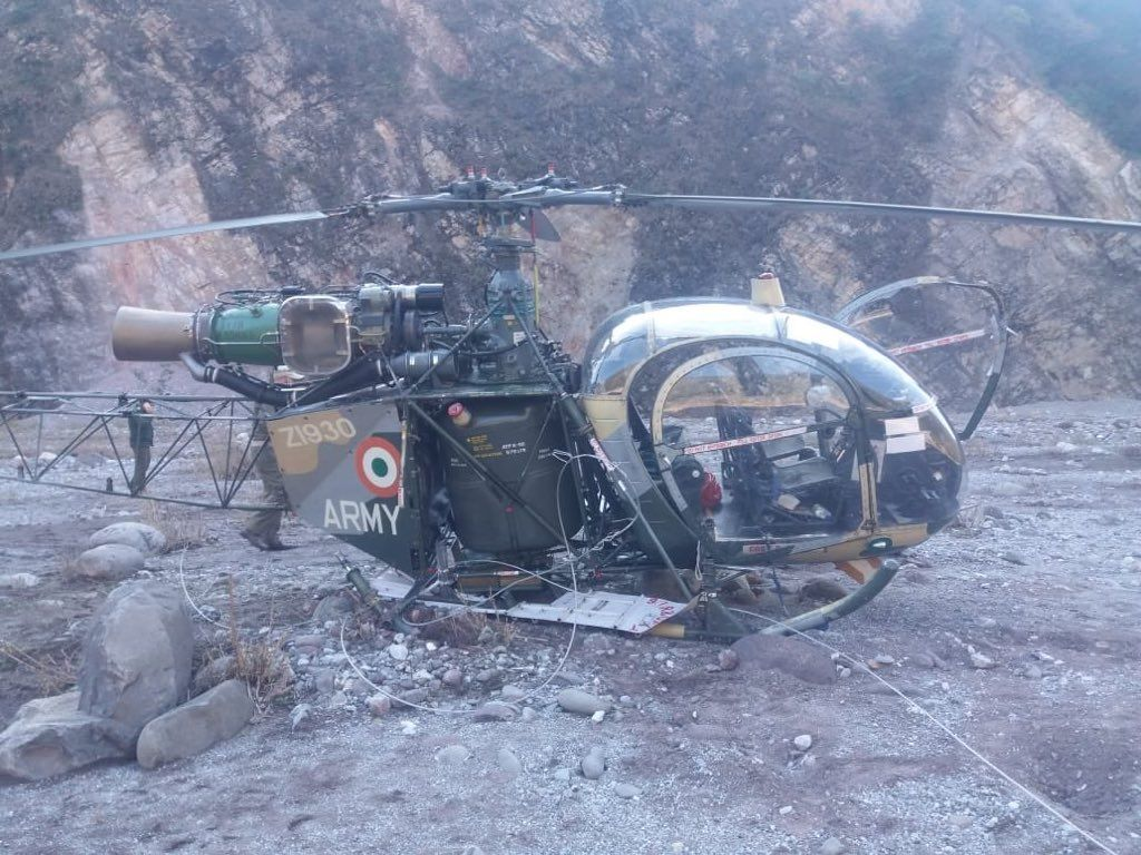 Indian Army HAL Cheetah Helicopter Crashed In Jammu & Kashmir