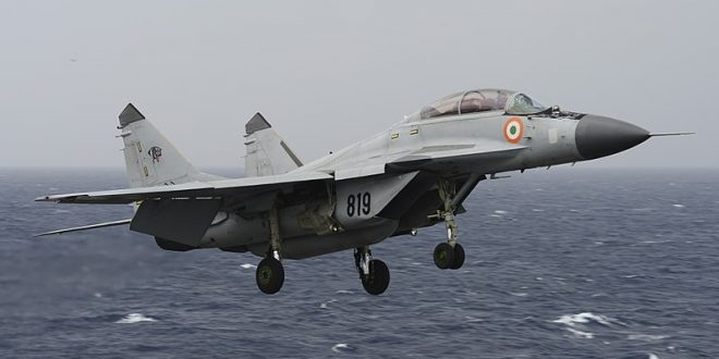 Indian Navy MiG-29K Fighter Jet Crashes In Goa During Training
