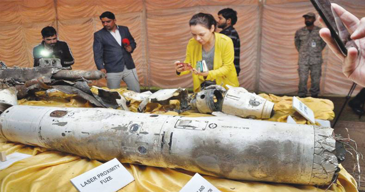 PAF Display All Four Missiles Recovered From The Wreckage Of IAF Abhinandan Varthaman's Mig-21 Fighter Jet
