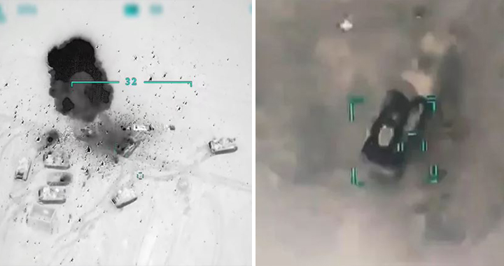 Turkey Releases Videos Of Missile & Air Strikes On Syrian Army Targets