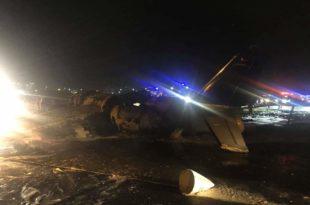 Aircraft Crashed On Takeoff At Manila-Ninoy Aquino Airport killing All 8 aboard
