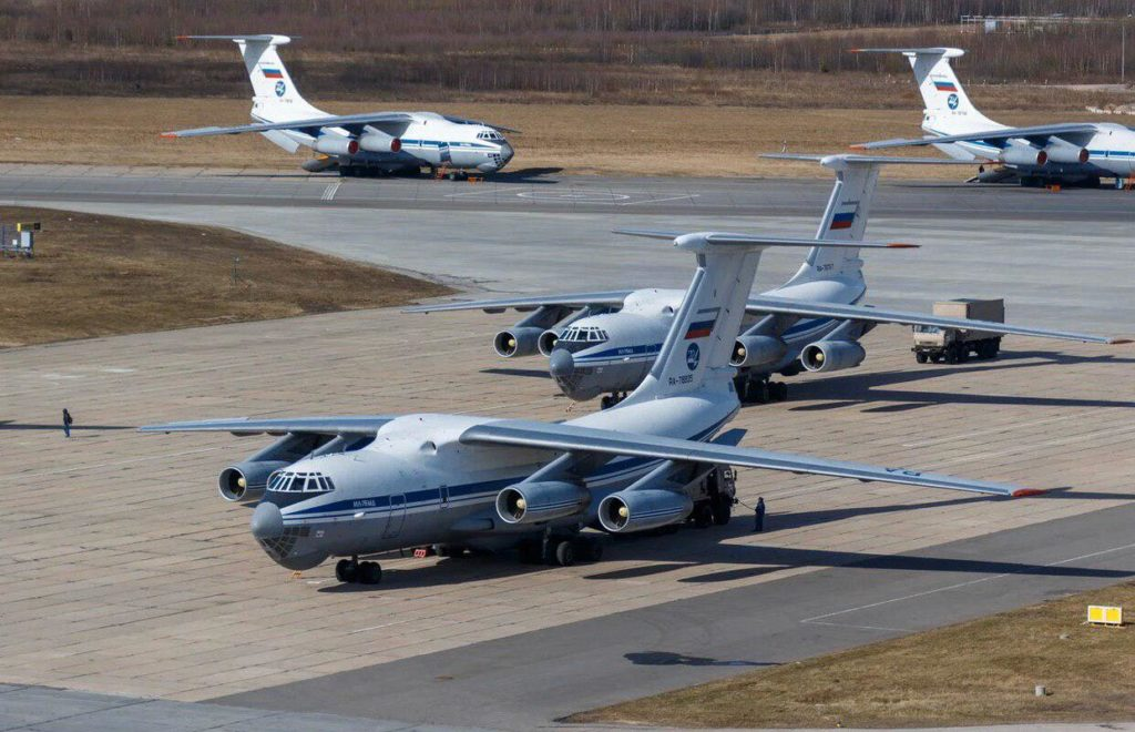 Russia Sends 14 IL-76 Military Transport Aircraft Carrying Covid-19 Response Group To Help Italy Fight Coronavirus Outbreak