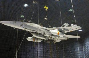 U.S. Navy Enginers Hoisted EA-18G Growler Fighter Jet For Testing Of Next Generation Jammer Pod