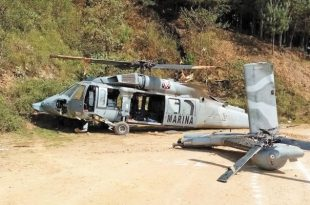 Mexican Navy Sikorsky UH-60M Black Hawk Helicopter Crashed In A Soccer Field, 1 Dead & 20 injured