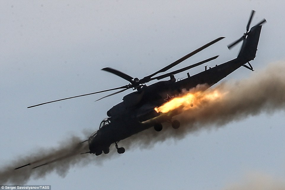Russian Mi-35 Helicopter Accidentally Opens Fire At Residential Building