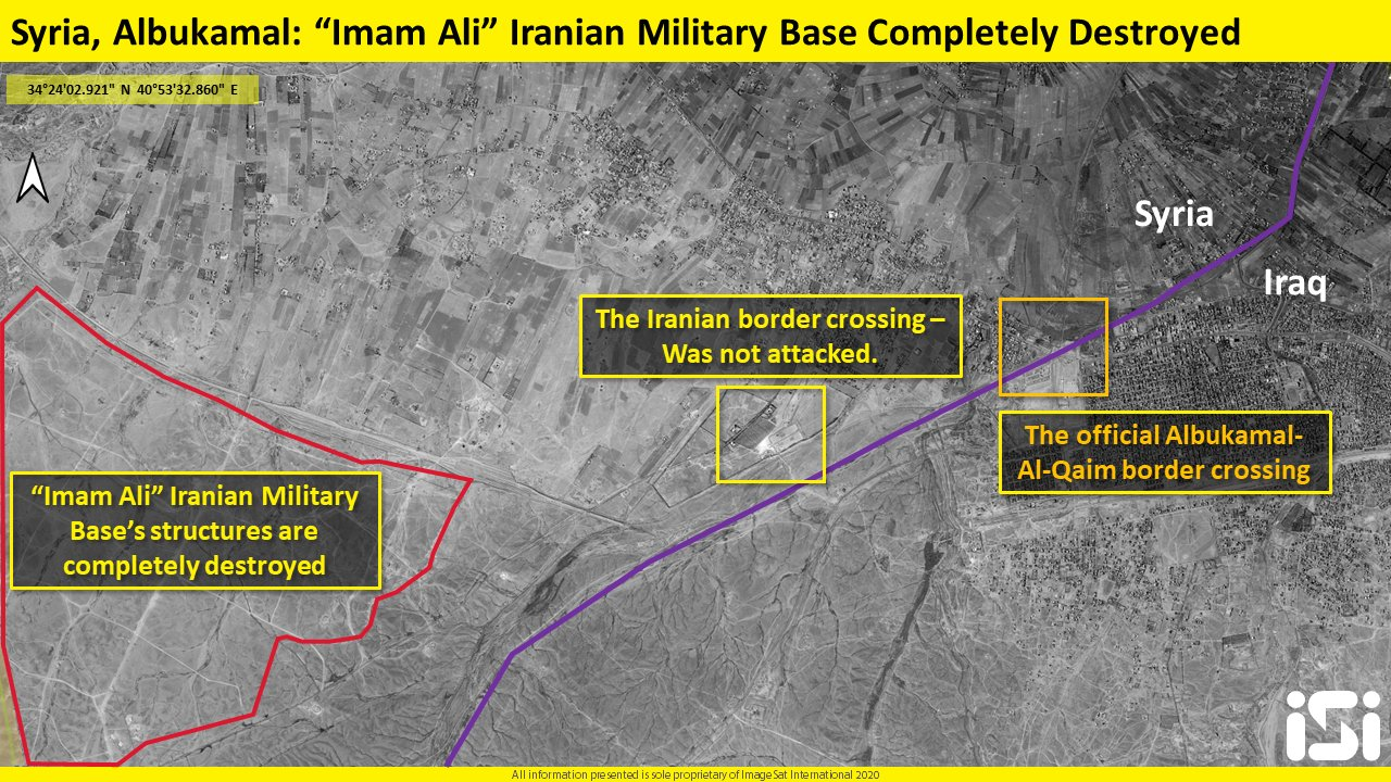 Satellite Images Show The Scale Scale Of Destruction At Imam Ali Base After Mysterious Strikes