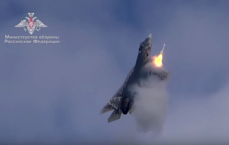 New Video Shows Sukhoi Su-57 Firing A Missile From Its Side Weapon Bay