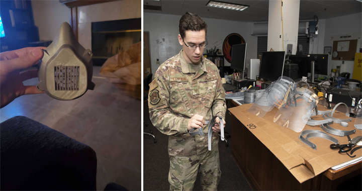 U.S. Air Force Starts 3D Printing Face Shields Amid Protective Equipment Shortages