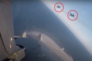 Cockpit Footage Shows Belgian F-16 Intercepting Russian Jets Buzzing USS Donald Cook Destroyer In The Baltic Sea