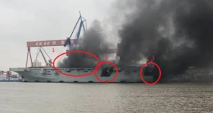 Fire Breaks Out On Chinese Navy New Type 075 Amphibious Assault Ship