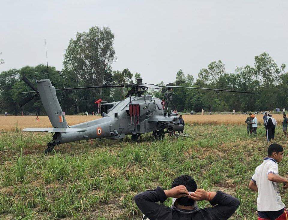 Indian Air Force Brand New AH-64E Apache Helicopters Makes Emergency Landing In Punjab Field