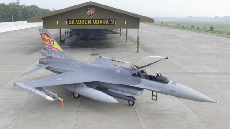 Indonesian Air Force Debuts Upgraded F-16 Fighter Jet In New Color Scheme