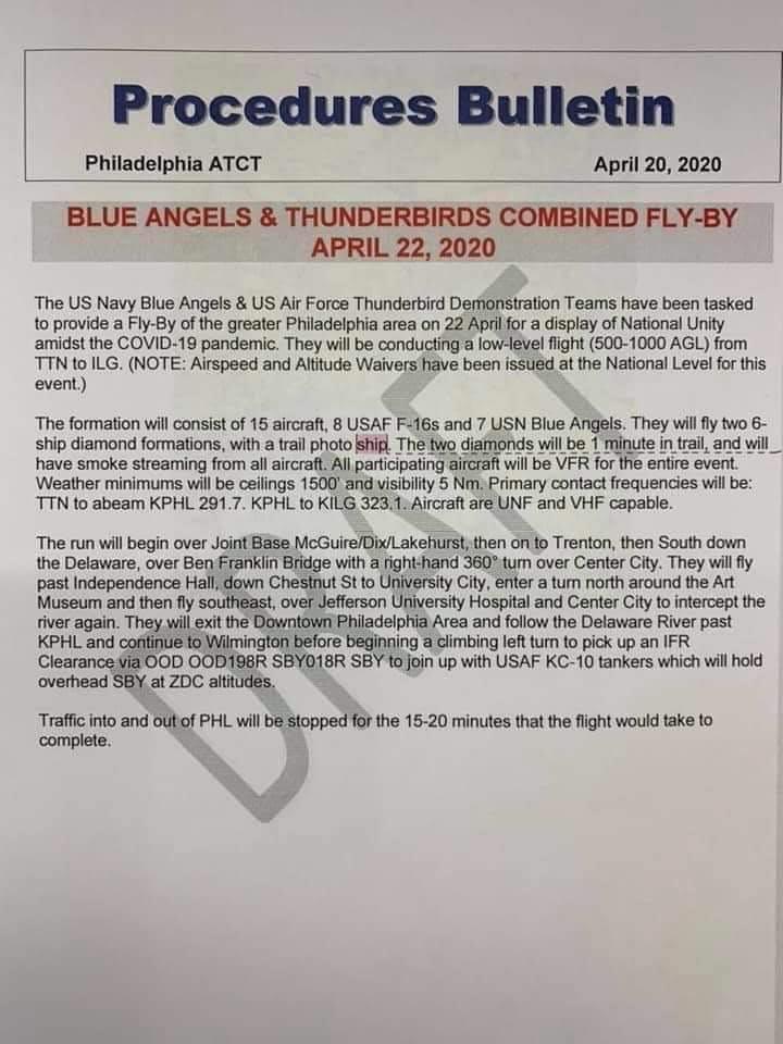 Rumors Of U.S. Navy Blue Angels & U.S. Air Force Thunderbirds Planning A Flyover Amid Coronavirus In Pensacola