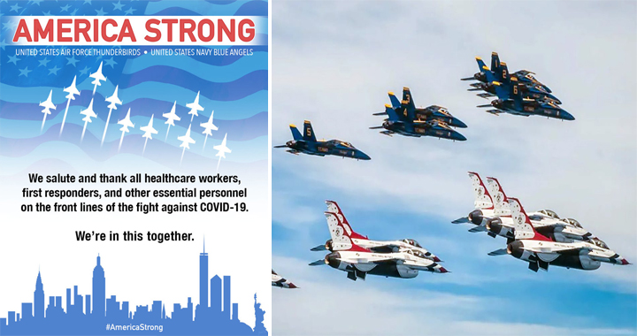 Operation America Strong: Blue Angels & Thunderbirds To Conduct Multi-city Flyovers Tour