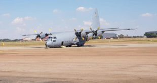 South African Air Force C-130BZ Hercules Suffered Nose gear Collapse During Testing