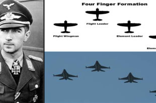 The Story Of Luftwaffe Fighter pilot Who Conceived The Finger-Four Formation