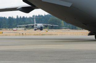 Spanish Air Force A400M Atlas Military Transport Aircraft Damaged Following Bird Strike While Landing